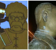 El hecho hace recordar a un capítulo de Los Simpsons.
