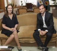 Apoyo desde Rivadavia a Vidal. Foto: Prensa