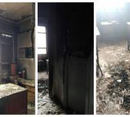 Incendiaron la Escuela Primaria N° 27 de la localidad de José Mármol. Foto: Prensa