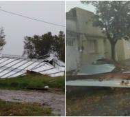 Hubo desprendimientos de techos y caídas de árboles en distintos municipios de la Cuarta Sección. Foto: LN1