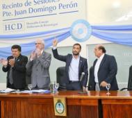 Mussi durante la inauguración de las sesiones ordinarias del Concejo de Berazategui.