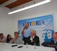 Berni fue el último orador de un encuentro de dirigentes de la segunda sección.