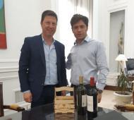 Carlos Bevilacqua junto a Axel Kicillof