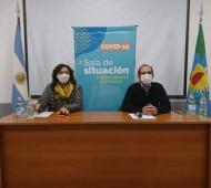 Marcos Pisano e junto a la secretaria de Salud, María Estela Jofré