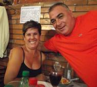Gallardo y su esposa Laura Quinteros. Fotos: La Noticia 1
