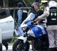 Boudou luego de ser detenido en su departamento de Puerto Madero.