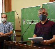José Caprara junto a Guillermo Britos