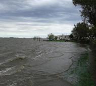 Inundación en Chascomús. Foto: Twitter @JoPignaa