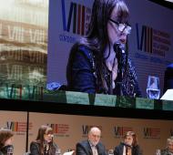 Caba disertó en el Congreso Internacional de la Lengua.