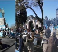 Mar del Plata, Olivos y La Plata, algunas imágenes de la jornada de protestas.