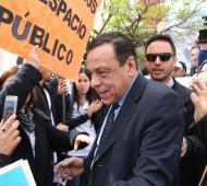 Cáffaro, al ingresar a las oficinas de la Fiscalía Número 6. Foto: Prensa Zárate