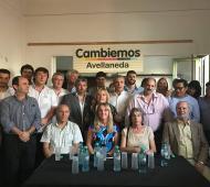 La mesa de Cambiemos de Avellaneda.