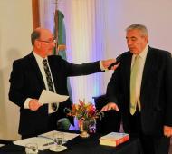 Campana jurando para un nuevo mandato (Foto: municipalidad)