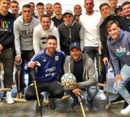 Messi y la selección con Adolfo Cambiaso en un asado en Cañuelas