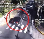 Las cámaras de San Fernando registraron el paso del auto del empresario.