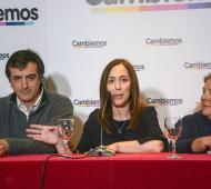 Bullrich, Vidal y Carrió en La Plata.