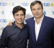 Kicillof junto a Mariano Cascallares, precandidato a diputado bonaerense (Imagen de archivo)