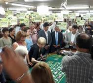 Trabajadores de casinos de Provincia en alerta.