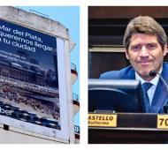 Castello celebró la publicidad de Uber en Mar del Plata.