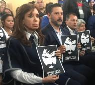 Cristina Kirchner fue a una misa a pedir por la aparición del artesano
