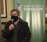 Guillermo Britos en conferencia de prensa - Foto: a1noticias