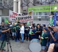 La protesta transcurrió en el Ministerio de Trabajo.
