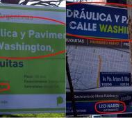 Los carteles de la polémica.