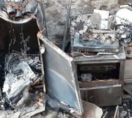 Incendian el comedor de una capilla de Temperley: El daño es total