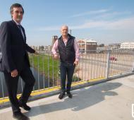 Grindetti y Esteban Bullrich recorrieron el avance de las obras del Puente Olímpico en Lanús