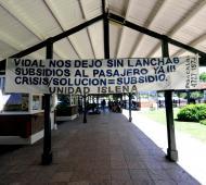 Hubo protesta y movilización en la Estación Fluvial de Tigre.