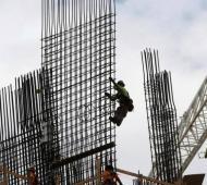 Construcción, entre las ramas de actividad que presentaron la mayor incidencia negativa.