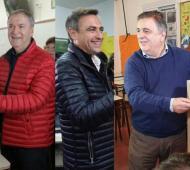 Schiaretti, Mestre y Negri en el momento de emitir su voto.