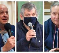 Mariano Uset, Guillermo Britos y Ricardo Alessandro
