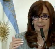 Cristina desde Casa Rosada.