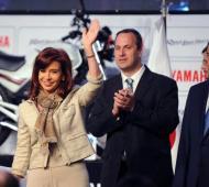 La Presidenta de la Nación encabezó el acto en las instalaciones de la fábrica. Foto: Télam.