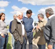 Sarquís con los intendentes. Foto: Agroindustria PBA