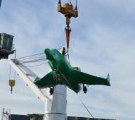 Respaldaron la llegada de los aviones militares comprados a Francia. Foto: Prensa