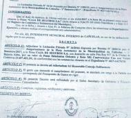 El acta del acuerdo con La Caja, en la primera adjudicación, con la firma de Contreras. Foto: El Ciudadano Cañuelense.