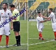 """El """"Chelito"""" Delgado jugó el partido en Florencio Varela."""