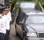 Despidieron los restos de Marcelo Acuña en Moreno.