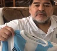 """Diego llamó a """"ganarle al hambre""""."""