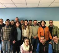 Antinori junto al equipo de Cambiemos en Benito Juárez.