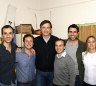 Tolosa Rossini, Petrecca y otros dirigentes junto a Esteban Bullrich, quien votó en la localidad de Agustina. Foto: Twitter Petrecca.