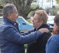 Delscalzo conversó con vecinos. Foto: Prensa