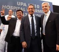 Scioli se mostró con el binomio Domínguez-Espinoza en Berazategui.