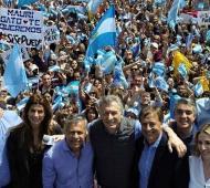 Macri en Mendoza, este sábado.
