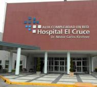 La paciente está internada en el Hospital El Cruce