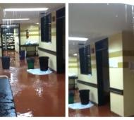 El Hospital provincial de Pergamino quedó bajo el agua.