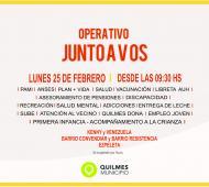 """El operativo social """"Junto a vos"""" llega este lunes a Ezpeleta."""