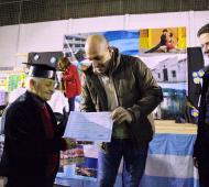 Molina entregó diplomas a alumnos de Fines 2.